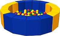 Игровой сухой бассейн Romana 16 граней ДМФ-МК 14.19.01 (300 шариков) -