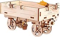 Сборная модель Ugears Прицеп к трактору 70006 -