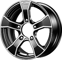 Литой диск iFree Лайт-круз (KC675) 15x6 5x139.7мм DIA 98мм ET 40мм (блэк джек) -