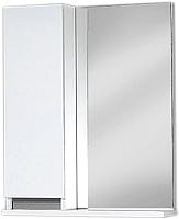 Шкаф с зеркалом для ванной Акваль Афина 55 / АФИНА.04.55.00.L -