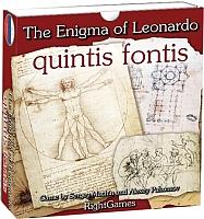 Настольная игра Правильные Игры Загадка Леонардо. Quintis Fontis 10-01-02 -
