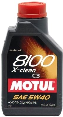 Моторное масло Motul 8100 X-clean 5W40 / 102786 (1л)