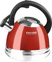 Чайник со свистком Rondell RDS-498 (красный) -