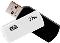 Usb flash накопитель Goodram UC02 32GB (UCO2-0320KWR11) (черный/белый) -