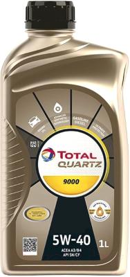 Моторное масло Total Quartz 9000 5W40 / 166243 / 213764 (1л)
