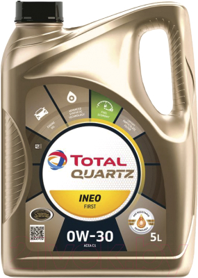 Моторное масло Total Quartz Ineo First 0W30 / 183106 / 213833 (5л)