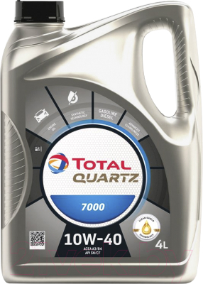 Моторное масло Total Quartz 7000 10W40 / 201523 / 214107 (4л)