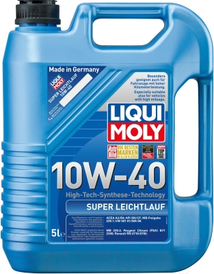Моторное масло Liqui Moly Super Leichtlauf 10W40 / 9505 (5л)