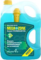 Жидкость стеклоомывающая MegaZone Master Зима -24 / 9000008 (4л, бирюзовый) -