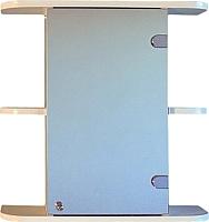 Шкаф с зеркалом для ванной СанитаМебель Камелия-03.50 (правый, белый) -