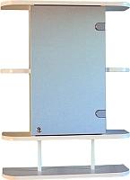 Шкаф с зеркалом для ванной СанитаМебель Камелия-03.54п (правый, белый) -