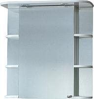 Шкаф с зеркалом для ванной СанитаМебель Камелия-10.70 Д2 (левый, белый) -