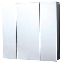 Шкаф с зеркалом для ванной СанитаМебель Камелия-13.74 (белый) -