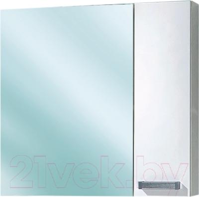 Шкаф с зеркалом для ванной Акваль Анна 70 / АННА.04.70.01.N