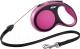 Поводок-рулетка Flexi New Comfort M 5m (трос розовый) -