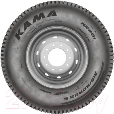 Грузовая шина KAMA NR 201 245/70R19.5 141/140J M+S Ведущая