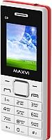 Мобильный телефон Maxvi C9 (белый/красный) -