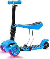 Самокат Sundays KB05-2 (голубой, светящиеся колеса) -
