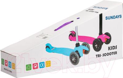 Самокат Sundays SA-100S-5 (фиолетовый, светящиеся колеса)