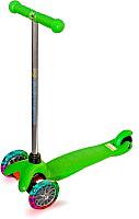 Самокат Sundays SA-100S-3 (зеленый, светящиеся колеса) -