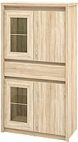 Шкаф с витриной Мебель-Неман Палермо МН-033-05 (дуб сонома) -