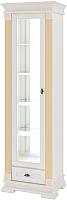 Шкаф с витриной Мебель-Неман Афина МН-222-03 (крем/патина) -