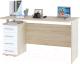 Письменный стол Сокол-Мебель КСТ-105.1 (дуб сонома/белый) -