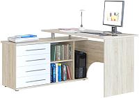 Компьютерный стол Сокол-Мебель КСТ-109 (левый, дуб сонома/белый) -
