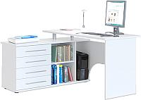 Компьютерный стол Сокол-Мебель КСТ-109 (левый, белый) -