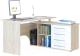 Компьютерный стол Сокол-Мебель КСТ-109 (правый, дуб сонома/белый) -