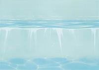 Декоративная плитка Березакерамика Лазурь горизонт бирюзовая (250x350) -