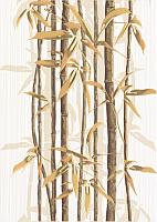 Декоративная плитка Березакерамика Ретро бамбук 2 коричневый (250x350) -