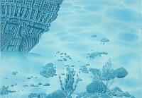 Элемент панно Березакерамика Лазурь корабль 8 бирюзовая (250x350) -