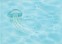 Декоративная плитка Березакерамика Лазурь медуза бирюзовая (250x350) -