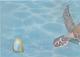 Элемент панно Березакерамика Лазурь Морской мир 3 бирюзовый (250x350) -