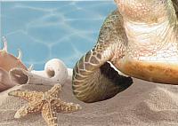 Элемент панно Березакерамика Лазурь Морской мир 11 бирюзовый (250x350) -