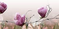 Декоративная плитка Belani Фрезия Магнолия 2 розовая (250x500) -
