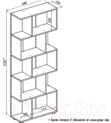 Стеллаж Мебель-Класс Мэдисон-1 (венге/дуб шамони)