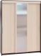 Шкаф Сокол-Мебель ШР-186.31 с зеркалом (венге/беленый дуб) -