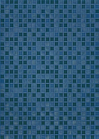 Плитка Березакерамика Квадро синий (250x350) -