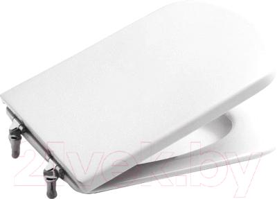 Фото - Сиденье для унитаза Roca Dama Senso ZRU9302820 крышка сиденье для унитаза roca dama senso zru9302820 дюропласт с микролифтом белый