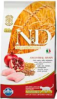 Корм для кошек Farmina N&D Low Grain Chicken & Pomegranate Neutered (1.5кг) -
