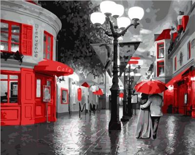 Картина по номерам Picasso Улица в красных красках (PC4050109)