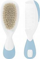 Набор для ухода за волосами детский Chicco С натуральными щетинками (голубой) -