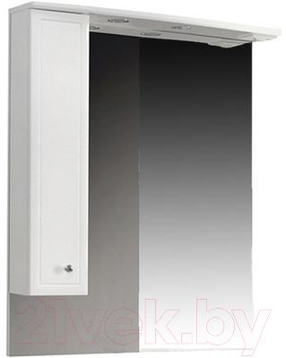 Шкаф с зеркалом для ванной Belux Адажио В80Ш