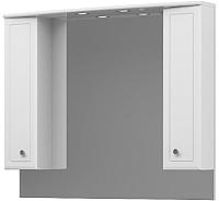 Шкаф с зеркалом для ванной Belux Адажио В105Ш -