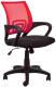 Кресло офисное Седия Ricci (красный/черный) -