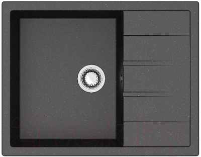 Мойка кухонная Berge BR-6502 (черный)