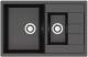 Мойка кухонная Berge BR-7612 (черный) -
