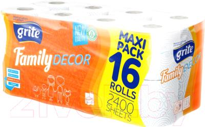 Туалетная бумага Grite Family Deco  (16рул)